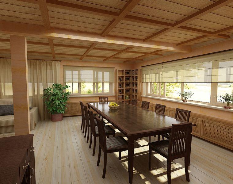 Интерьер загородных деревянных домов и коттеджей