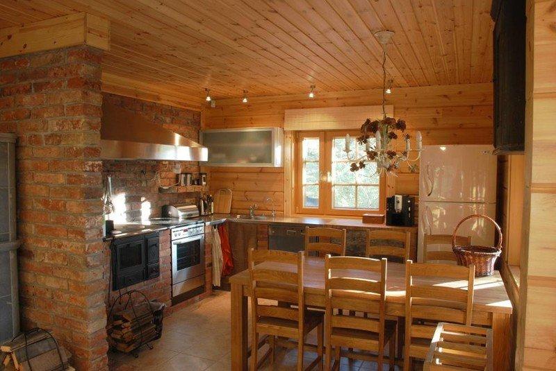 Дизайн загородного деревянного дома внутри фото