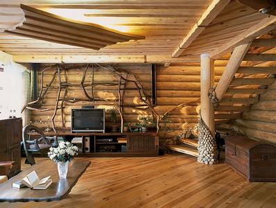 interer derevyannogo doma Интерьер деревянного дома Интерьер деревянного дома