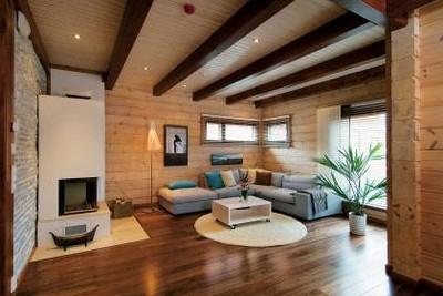 interer derevyannogo doma iz brusa Интерьер деревянного дома из бруса