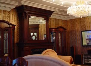 interer gostinoj v derevyannom dome Интерьер гостиной в деревянном доме