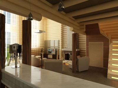 interer v derevyannom stile Интерьер в деревянном стиле